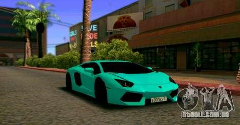 Lamborghini Aventador LP700-4 2012 para GTA San Andreas vista traseira