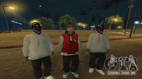Ballas Skin Pack para GTA San Andreas segunda tela