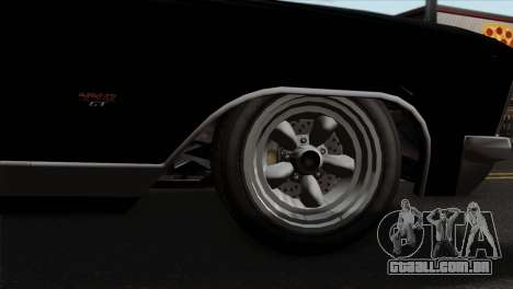 GTA 5 Albany Buccaneer para GTA San Andreas traseira esquerda vista