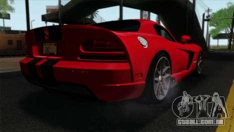 Dodge Viper SRT10 v1 para GTA San Andreas esquerda vista