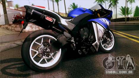 Yamaha YZF-R1 PJ para GTA San Andreas esquerda vista
