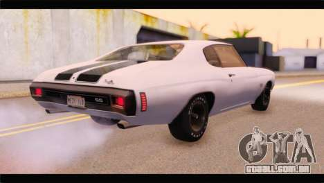 Chevrolet Chevelle 1970 3D Shadow para GTA San Andreas esquerda vista