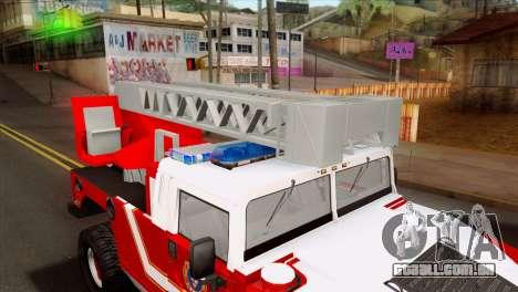 Hummer H1 Fire para GTA San Andreas vista traseira