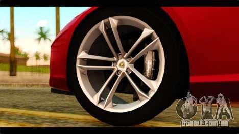 Lamborghini Estoque PJ para GTA San Andreas traseira esquerda vista