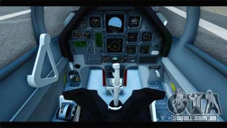 Beechcraft T-6 Texan II Red para GTA San Andreas vista traseira