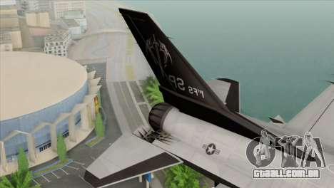 F-16C Fighting Falcon Wind Sword Squadron para GTA San Andreas traseira esquerda vista