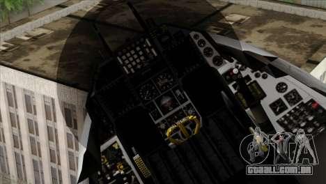 F-16D Fighting Falcon para GTA San Andreas vista direita