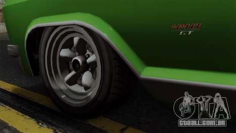 GTA 5 Albany Buccaneer IVF para GTA San Andreas traseira esquerda vista