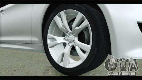 Infiniti M56 para GTA San Andreas traseira esquerda vista