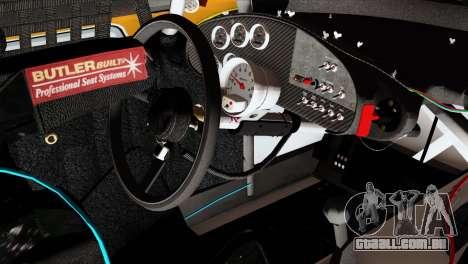 NASCAR Dodge Charger 2012 Short Track para GTA San Andreas vista direita