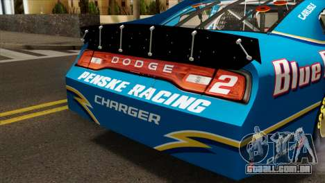NASCAR Dodge Charger 2012 Plate Track para GTA San Andreas vista traseira