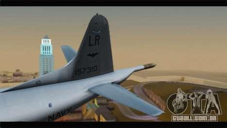 Lockheed P-3C Orion US Navy VP-24 para GTA San Andreas traseira esquerda vista