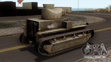 T2 Medium Tank para GTA San Andreas esquerda vista