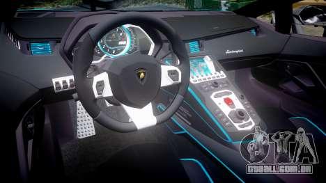 Lamborghini Aventador TRON Edition [EPM] Updated para GTA 4 vista interior