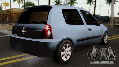 Renault Clio Mio 3P para GTA San Andreas esquerda vista
