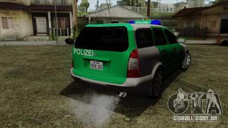 Opel Astra G 1999 Police para GTA San Andreas esquerda vista