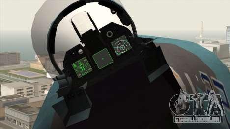 SU-47 Berkut Winter Camo para GTA San Andreas vista direita