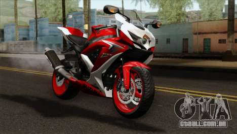 Suzuki GSX-R 2015 Red & White para GTA San Andreas