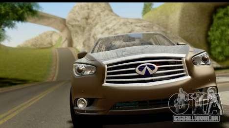 Infiniti JX 35 2013 para GTA San Andreas traseira esquerda vista