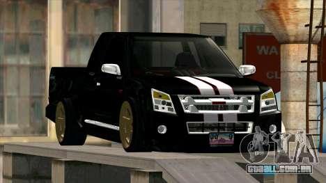 Isuzu D-Max X-Series para GTA San Andreas vista traseira