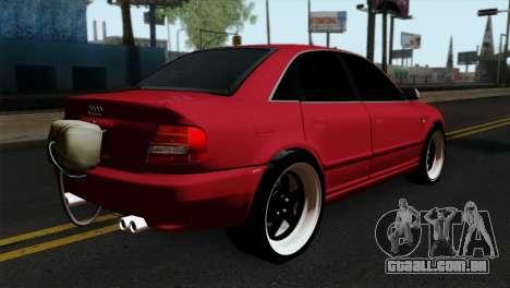 Audi S4 2000 Drag Version para GTA San Andreas esquerda vista