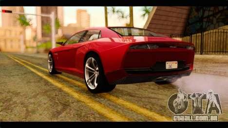 Lamborghini Estoque PJ para GTA San Andreas esquerda vista