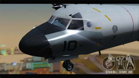 Lockheed P-3C Orion US Navy VP-24 para GTA San Andreas vista traseira