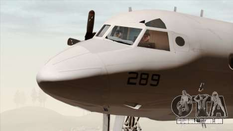 Lockheed P-3C Orion JMSDF Shimofusa para GTA San Andreas vista traseira