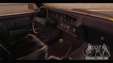 Chevrolet Chevelle 1970 3D Shadow para GTA San Andreas vista direita