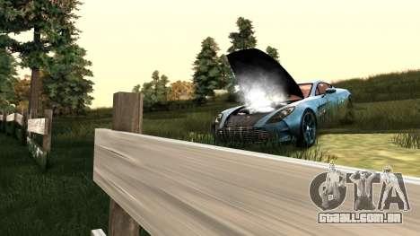 ClickClack ENB v2.0 para GTA San Andreas por diante tela
