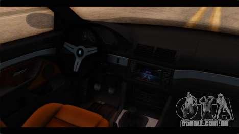 BMW M5 E39 para GTA San Andreas vista direita