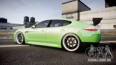 Porsche Panamera Turbo 2010 para GTA 4 esquerda vista
