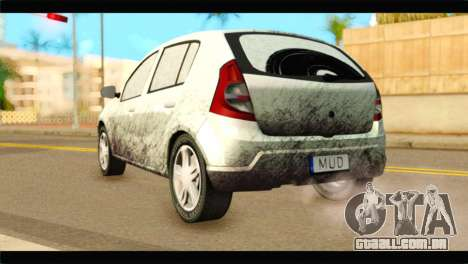 Dacia Sandero Dirty Version para GTA San Andreas esquerda vista