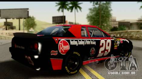 Elegy NASCAR PJ para GTA San Andreas esquerda vista