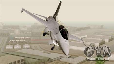 F-16D Fighting Falcon para GTA San Andreas vista traseira