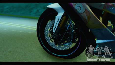 Kawasaki Ninja ZX-10R Super Sonico Itansha para GTA San Andreas traseira esquerda vista