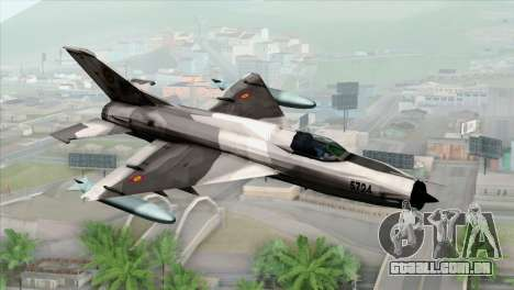 Hawker Hunter F6A para GTA San Andreas