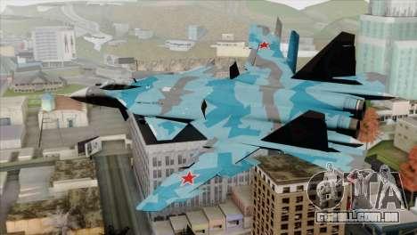 SU-47 Berkut Winter Camo para GTA San Andreas esquerda vista