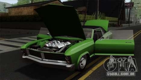 GTA 5 Albany Buccaneer IVF para GTA San Andreas vista traseira