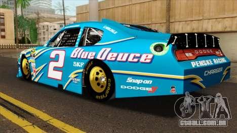 NASCAR Dodge Charger 2012 Plate Track para GTA San Andreas esquerda vista