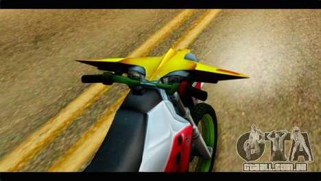 Trychaser 2000 para GTA San Andreas vista traseira
