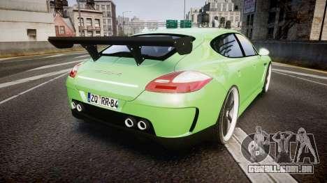 Porsche Panamera Turbo 2010 para GTA 4 traseira esquerda vista