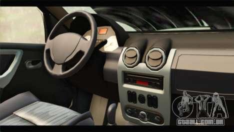 Dacia Sandero Dirty Version para GTA San Andreas vista direita
