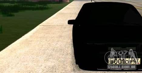 USANDO 2112 BUNKER para GTA San Andreas traseira esquerda vista