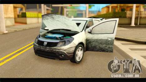 Dacia Sandero Dirty Version para GTA San Andreas vista traseira