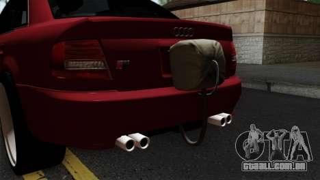Audi S4 2000 Drag Version para GTA San Andreas vista traseira