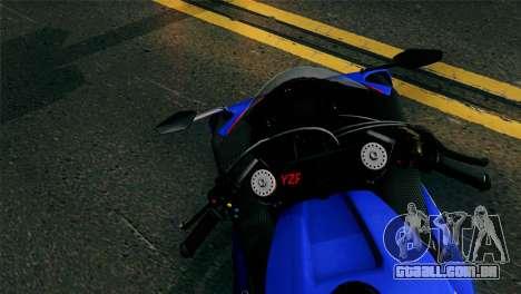 Yamaha YZF-R1 PJ para GTA San Andreas traseira esquerda vista