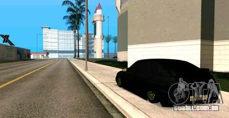 USANDO 2112 BUNKER para GTA San Andreas esquerda vista