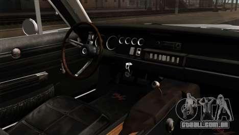 Dodge Charger 1968 para GTA San Andreas traseira esquerda vista