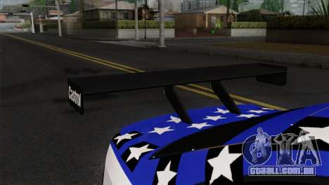 BMW M3 GTR 2001 Prototype Technology Group para GTA San Andreas vista traseira